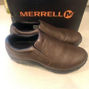 Merrell jungle moc brown leather size 11 men